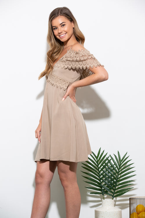 Walk On By Mocha Shift Dress