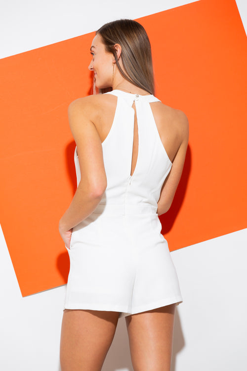 Say I Do White Romper