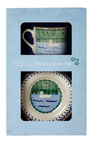 Box Set Small Mug and Tiny Plate Duck
