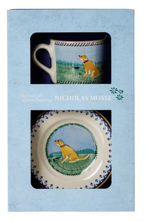 Box Set Small Mug and Tiny Plate Dog