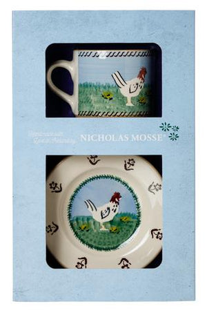 Box Set Small Mug and Tiny Plate Hen