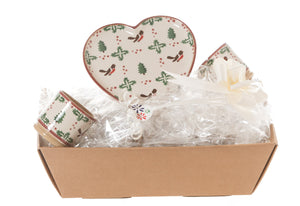Nicholas Mosse Heart Gift Set In Winter Robin
