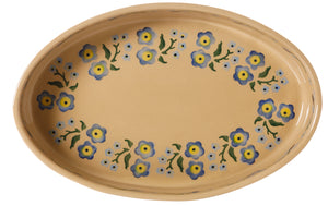 Medium Oval Oven Dish Forget Me Not