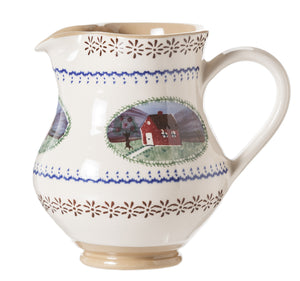 Medium Jug Farmhouse spongeware by Nicholas Mosse Pottery - Ireland - Handmade Irish Craft