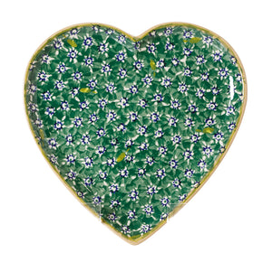 NMP 2018 Med Heart Plate Green Lawn-Ireland - Handmade Irish Craft