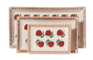 Nest Of 3 Rectangle Dishes Apple