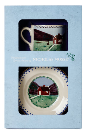 Box Set Small Mug and Tiny Plate Farmhouse