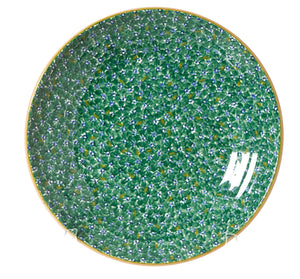 Shallow Dish Lawn Green spongeware pottery by Nicholas Mosse Pottery - Ireland - Handmade Irish Craft
