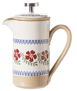 Small Cafetiere Coffee Pot Old Rose spongeware by Nicholas Mosse Pottery - Ireland - Handmade Irish Craft