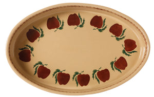 Small Oval Oven Dish Apple