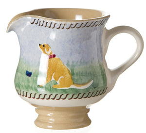 Tiny jug Dog spongeware pottery by Nicholas Mosse Pottery - Ireland - Handmade Irish Craft.