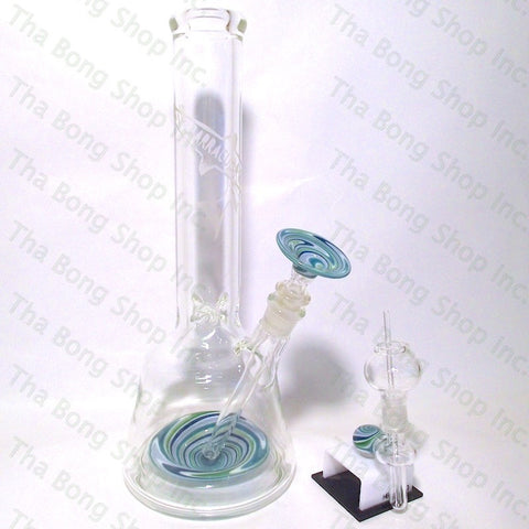 Barracuda Glass #119 Aqua Vacstack Vortex Beaker Bong  Set - Tha Bong Shop
