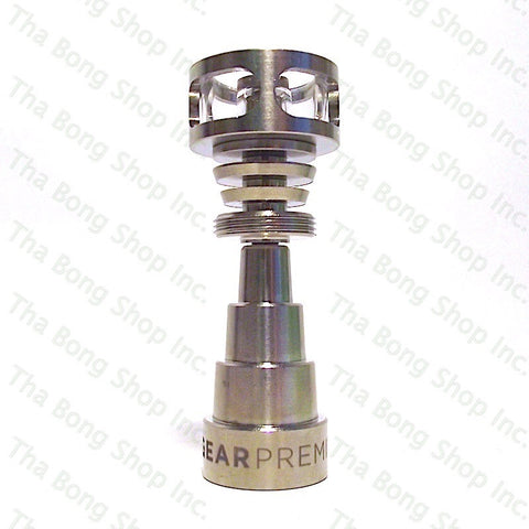 GEAR Jacketed Domeless Quartz Titanium Hybrid Nail 10-14-18mm Reversible Male / Female