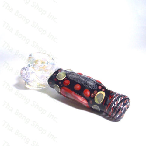 Gnosy Glass Red Black Dichroic Heady Hammer Pipe - Tha Bong Shop
