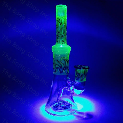 Gnosy Glass Illuminati With Blue White Linework 14mm #Gfitting Bangerhanger Mini Milker - Tha Bong Shop