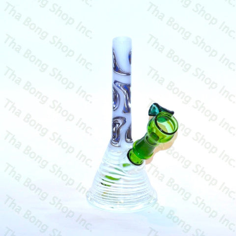 Gnosy Mini Milker White and Blue Wigwag Window - Tha Bong Shop
