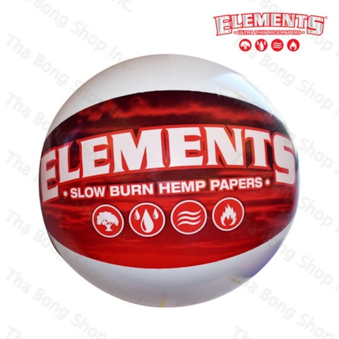 ELEMENTS RED BEACH BALL - Tha Bong Shop