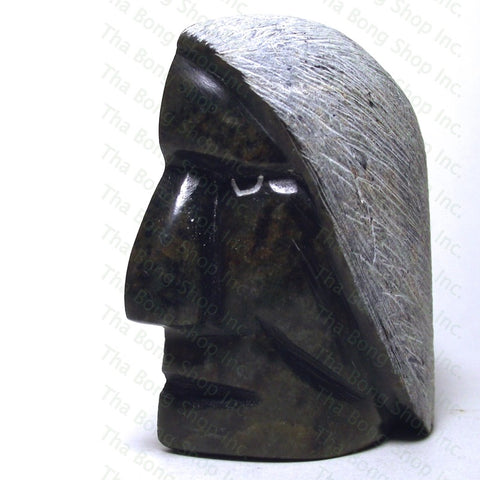 Howard Moose Half Face Sculpture Carved Stone Pipe - Tha Bong Shop