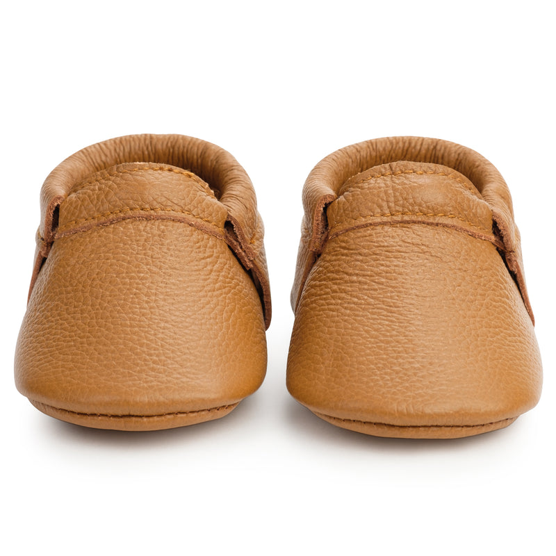 Classic Brown Fringeless Moccasins