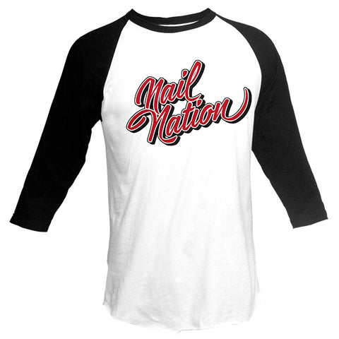 Nail Nation Baseball Tee