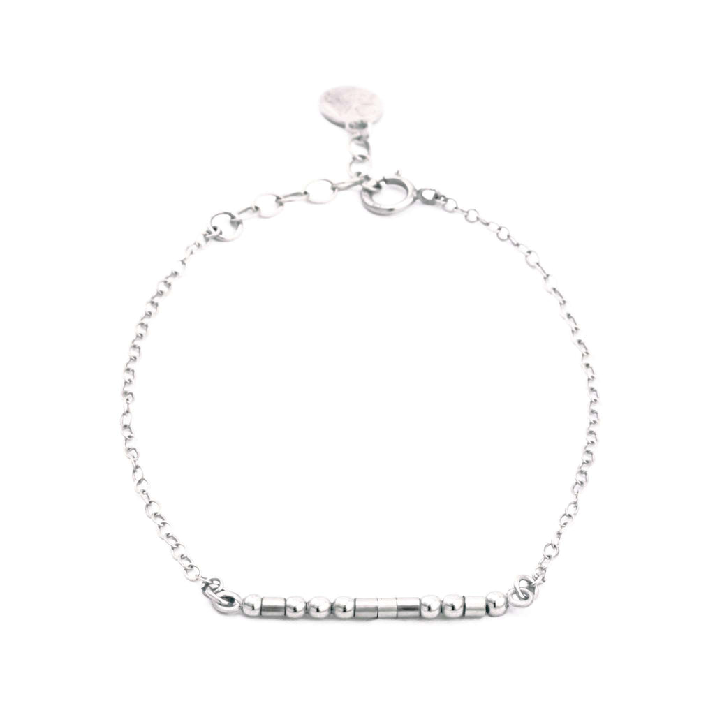 LIFE IS BETTER WITH A SISTER - MORSE CODE BRACELET - CA SOULS