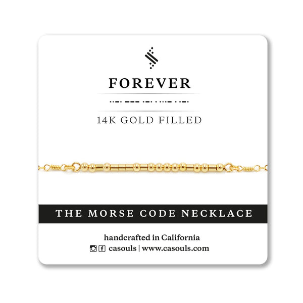 FOREVER - MORSE CODE NECKLACE - CA SOULS