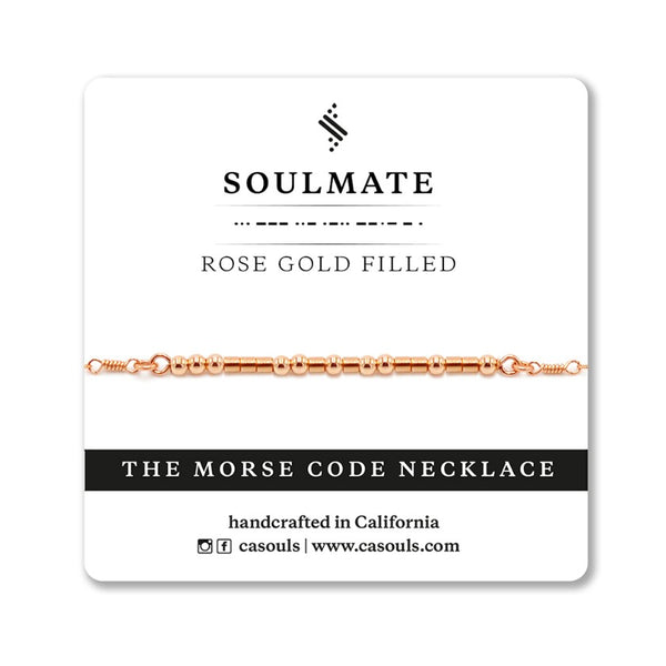 SOULMATE - MORSE CODE NECKLACE - CA SOULS