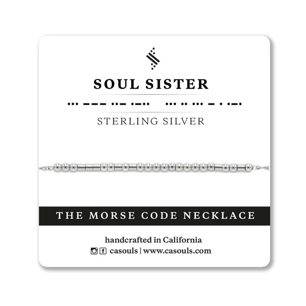 SOUL SISTER - MORSE CODE NECKLACE - CA SOULS