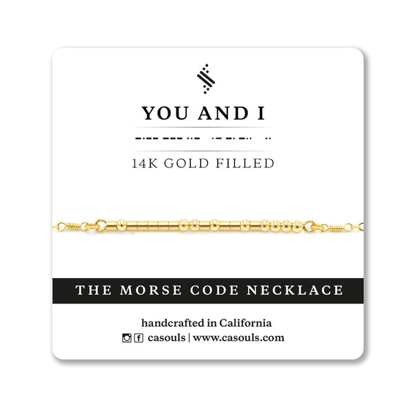 YOU AND I - MORSE CODE NECKLACE - CA SOULS