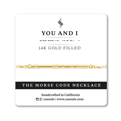 YOU AND I - MORSE CODE NECKLACE