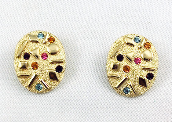 Sarah Coventry Rhinestone Clip On Earrings
