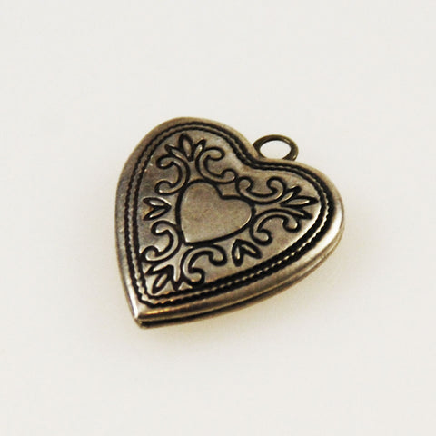 Sterling Heart in Heart Charm Locket