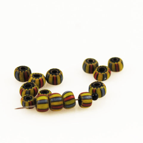 Venetian Striped Chevron Trade Beads