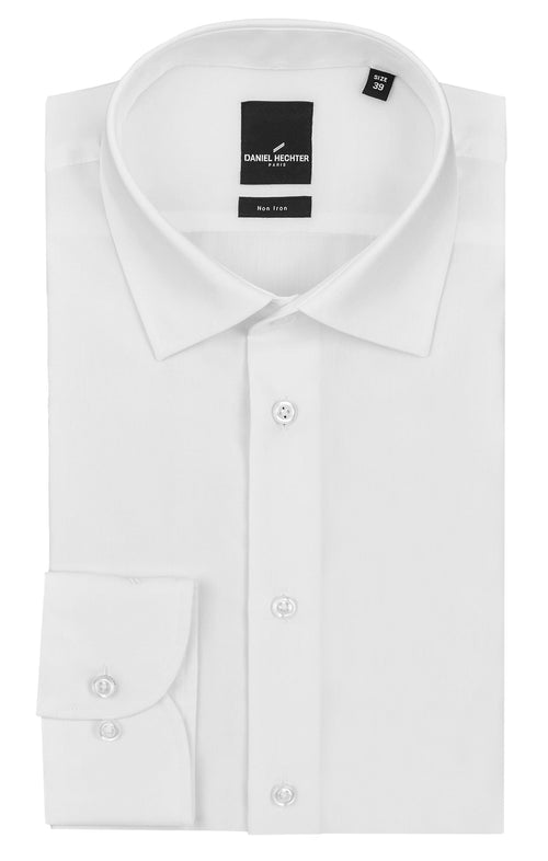 Daniel Hechter Shape Business White Cotton Shirt