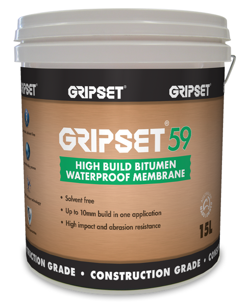 Gripset 59  High Build Bitumen 15Litre