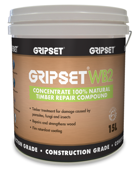 Gripset WB2 Concentrate 100% Natural Timber Repair Compound 5Litre