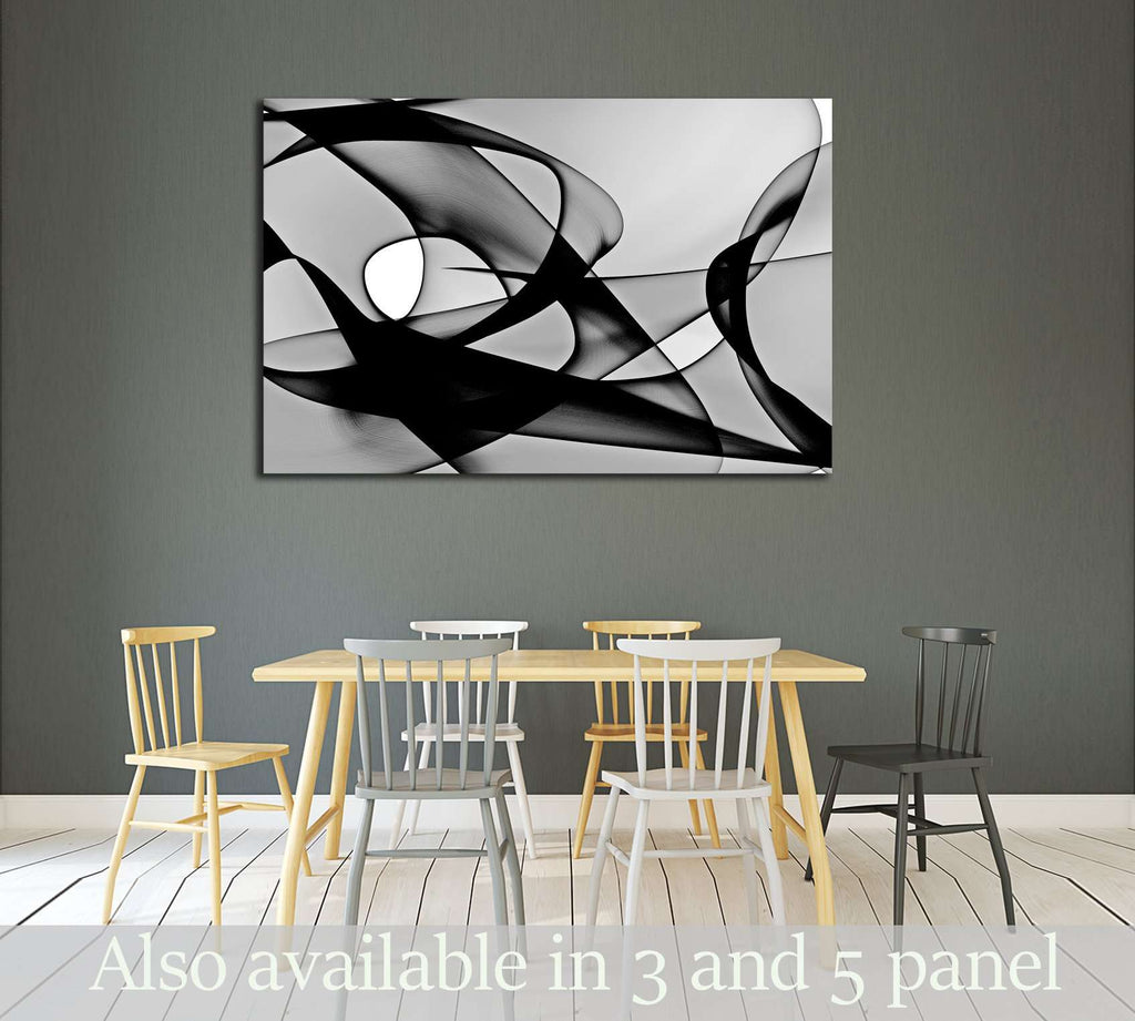 Abstract generated black and white pattern background №2880 Ready to Hang Canvas Print