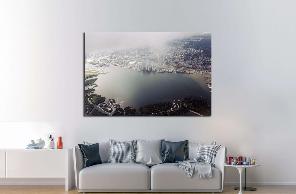 Aerial view of Toronto. Toronto, Ontario, Canada №2087 Ready to Hang Canvas Print