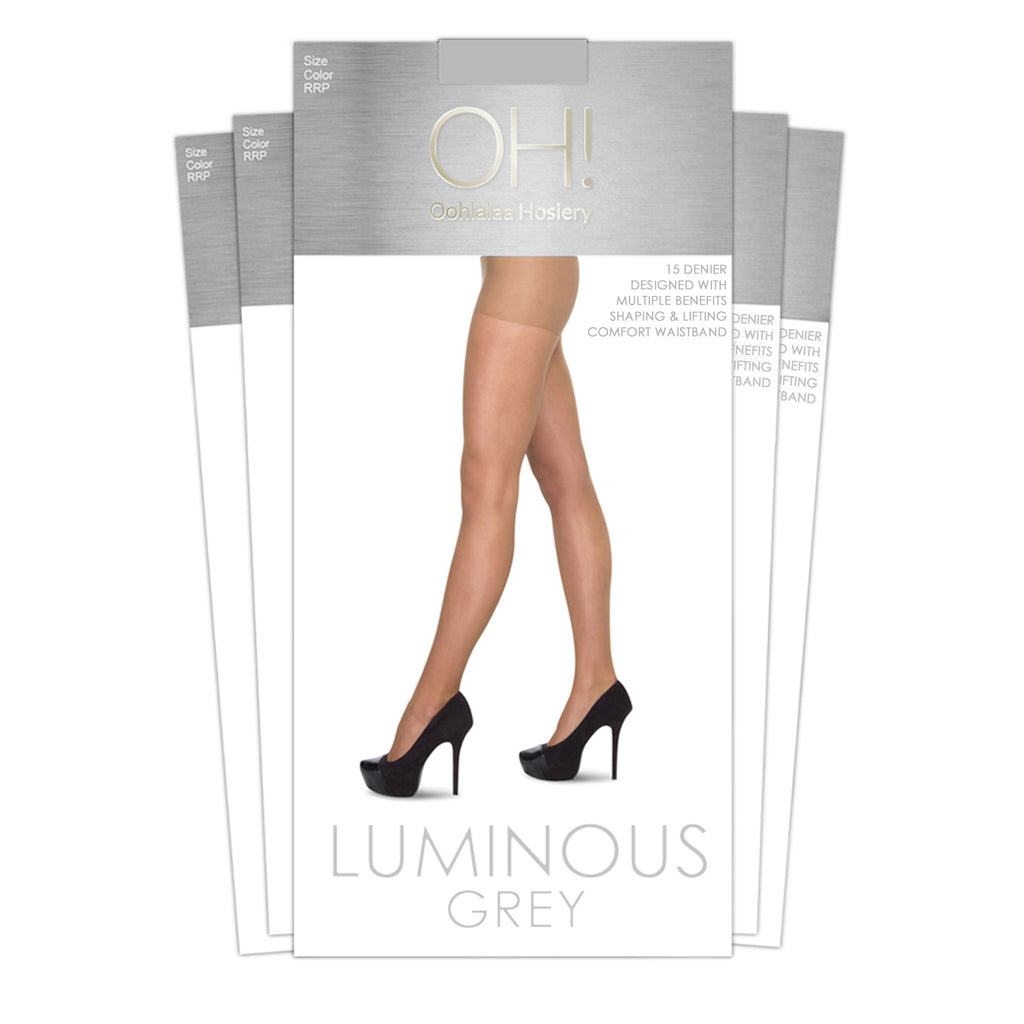 Luminous Grey 5 Pack - Oohlalaa Hosiery!