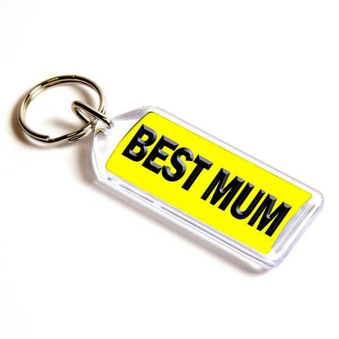 Personalised Number Plate Keyring 50mm x 20mm