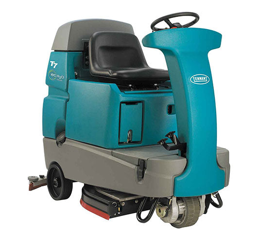 "Refurbished Tennant T7 32"" Disk Battery Powered Rider Flooor Scrubber"