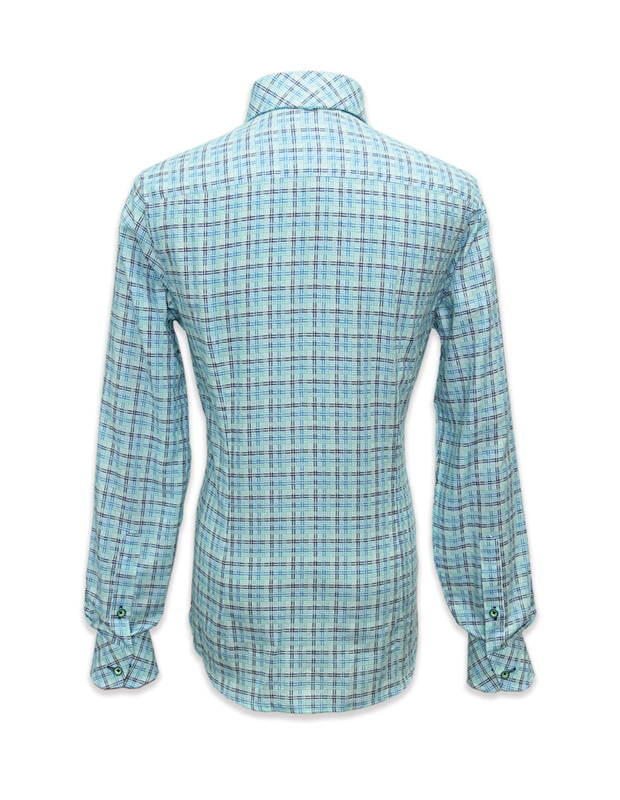 Long Sleeved Hatch Shirt