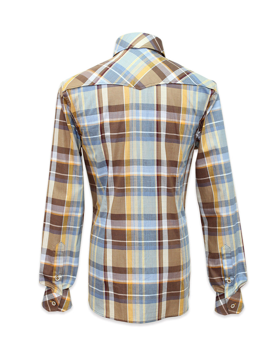 Long Sleeved Plaid Shirt