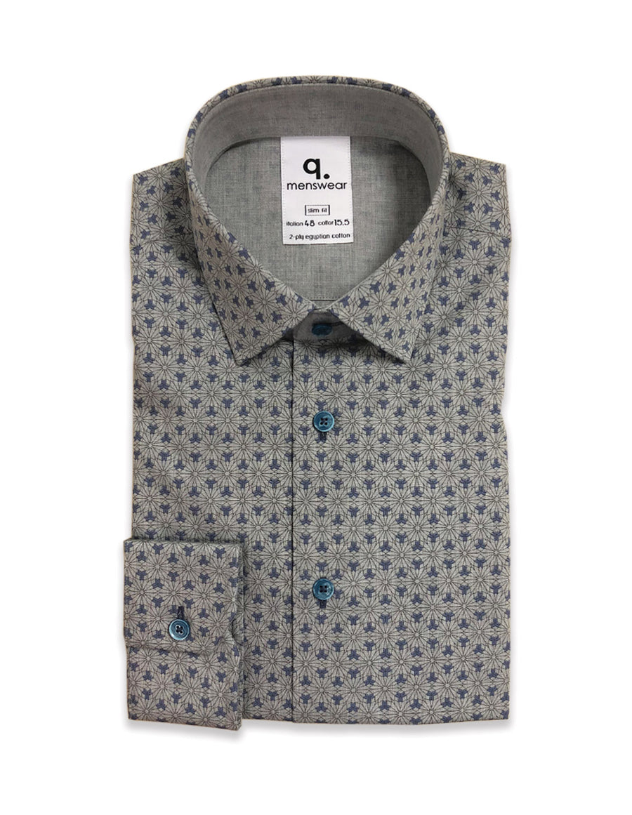 Long Sleeved Primont Blue Shirt