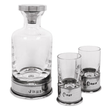 Classic Pewter Decanter Gift Set