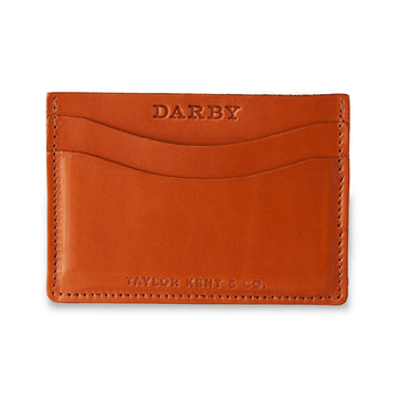 Tan Leather Leaf Wallet