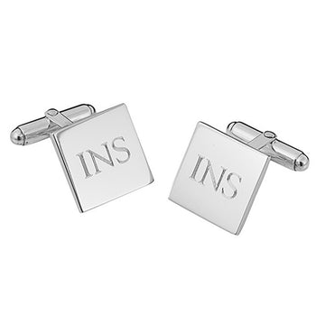 Hinged Square Sterling Silver Cufflinks