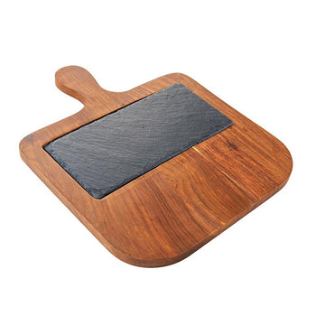 Solid Rosewood And Slate Serving Paddle Board
