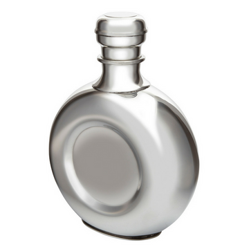 Round Pewter Decanter