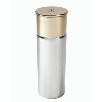 Pewter and Brass Cartridge Hip Flask